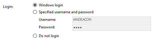 Login details options